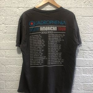 The Who 2012 2013 North American tour t shirt